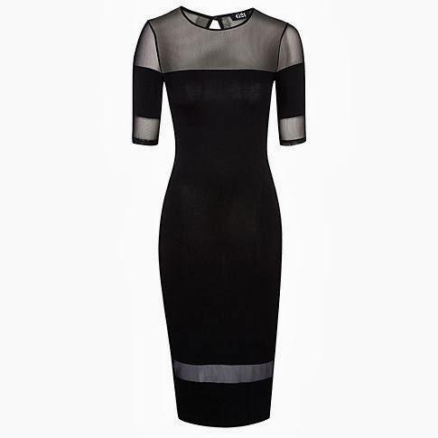 sheer panel dress