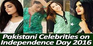Pakistani Celebrities on Independence Day 2016