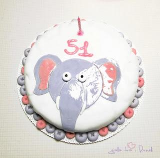pasta di zucchero torta elefante