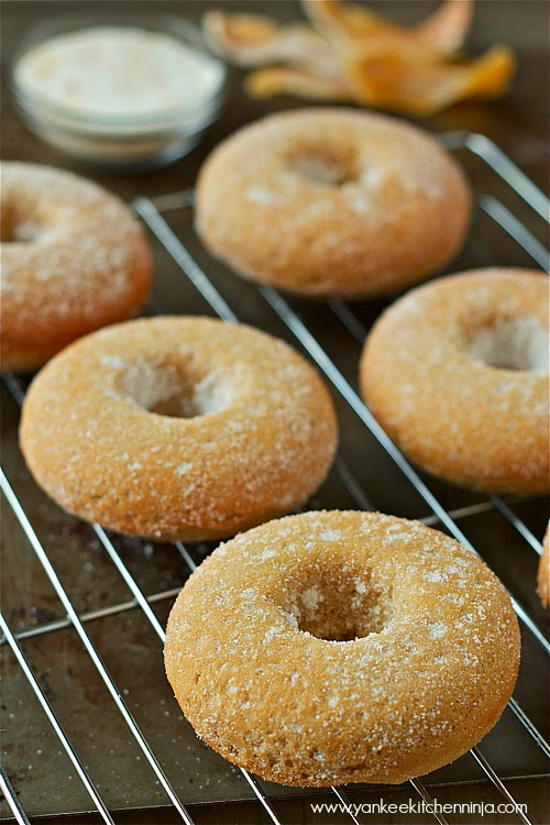 baked grapefruit buttermilk doughnuts