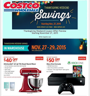 Costco Black Friday Sale Page 1
