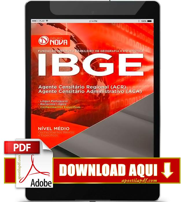 Apostila IBGE Agente Censitário Administrativo PDF Download 2016