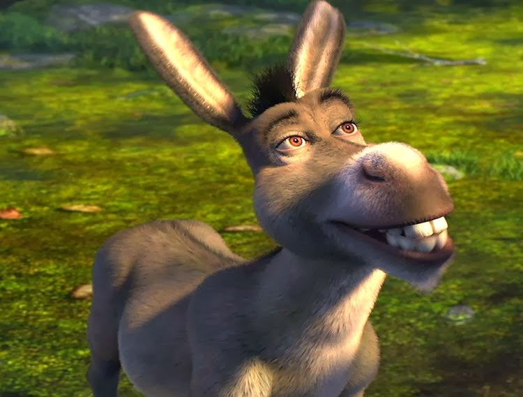 Laughing donkey shrek