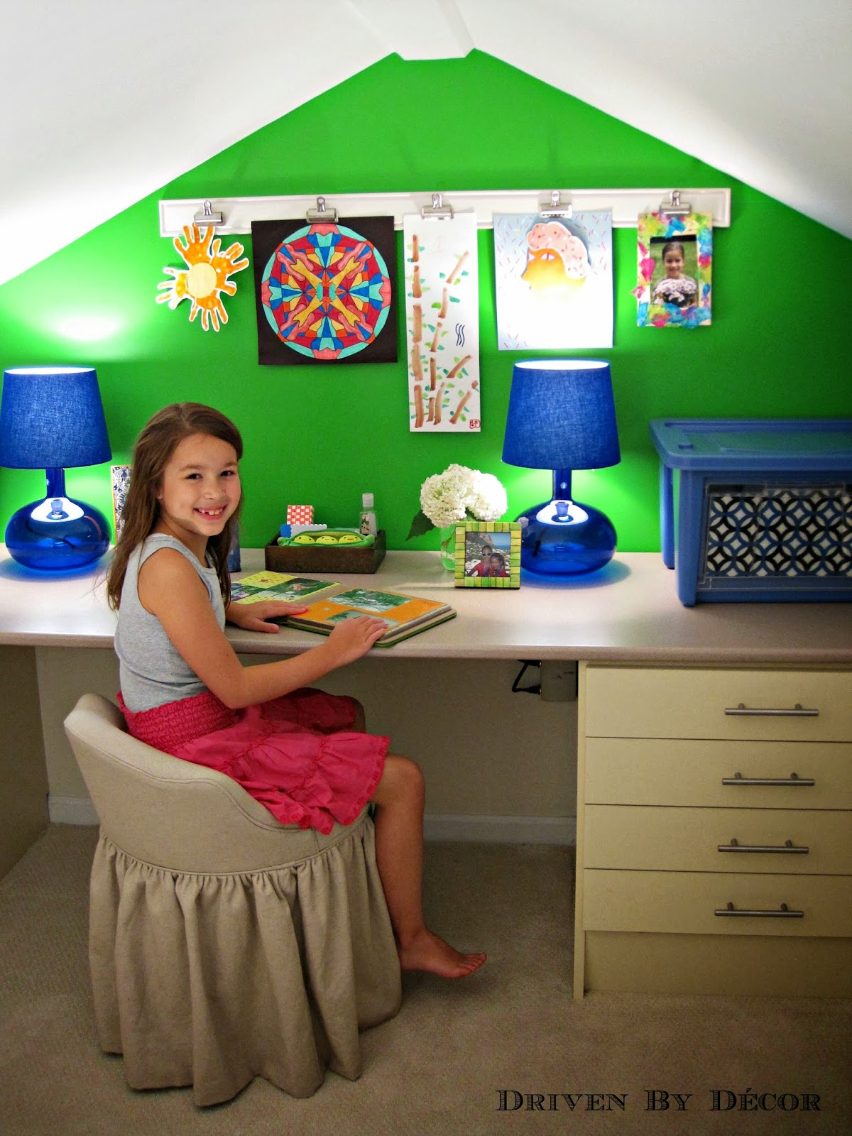 Kids craft room makeover driven by decor for Kids room makeover