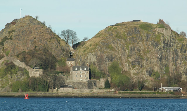 Photographer - Alan Hughes Looking north across the River Clyde towards Dumbarton Castle