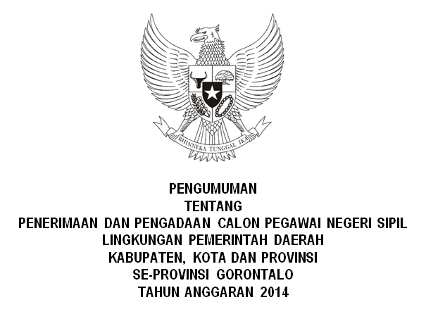 Penerimaan CPNS Seluruh Kabupaten Kota Provinsi Gorontalo