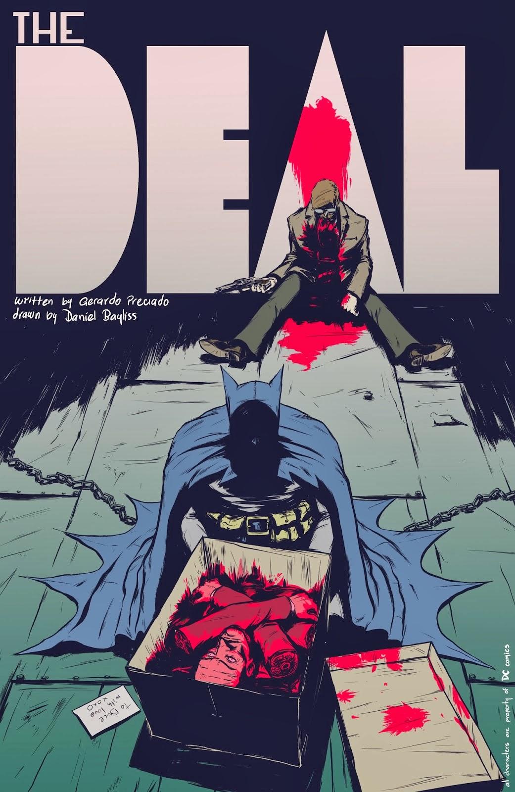 batman the deal gerardo preciado daniel bayliss comics joker love blood