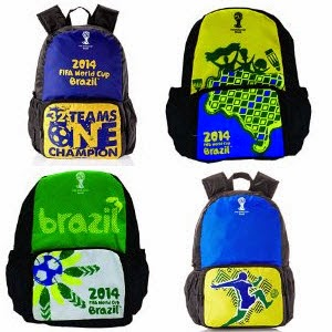 Buy Online Fifa Brazil Casual Backpack flat 80% off at Rs.500