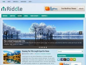 Riddle - Free Wordpress Theme