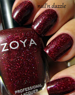 ornate, red, holographic, holo, glitter, polish, nail, dazzle