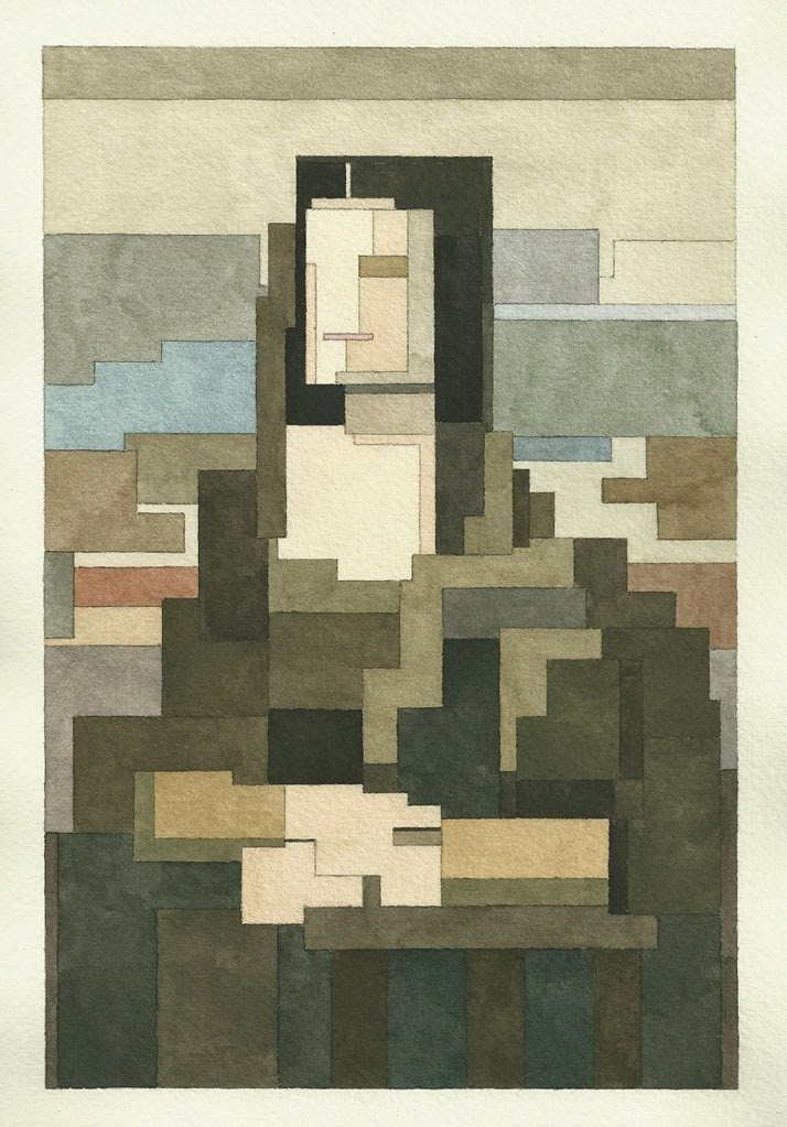 Adam Lister, acuarelas 8 bits, La Mona Lisa