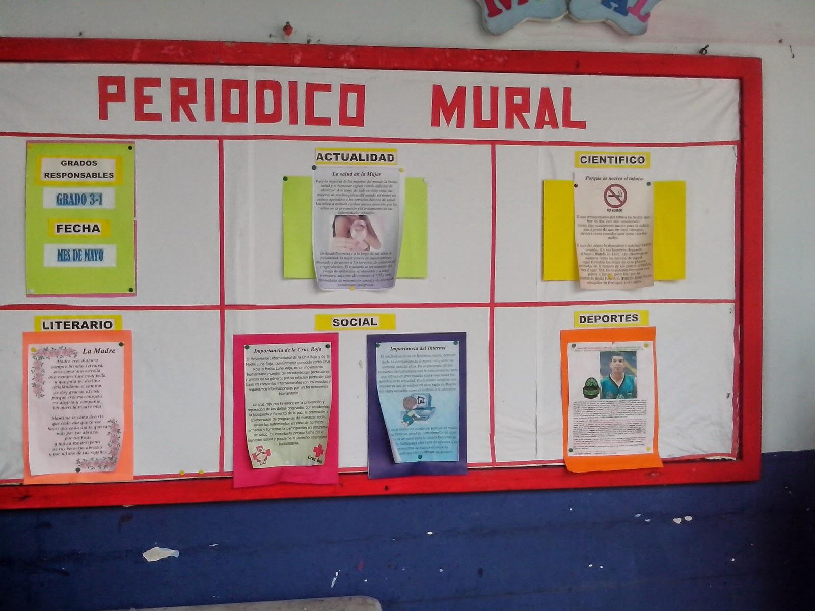 DE LOS ESTUDIANTES, CON EL PERIÓDICO MURAL, en todas las sedes del E