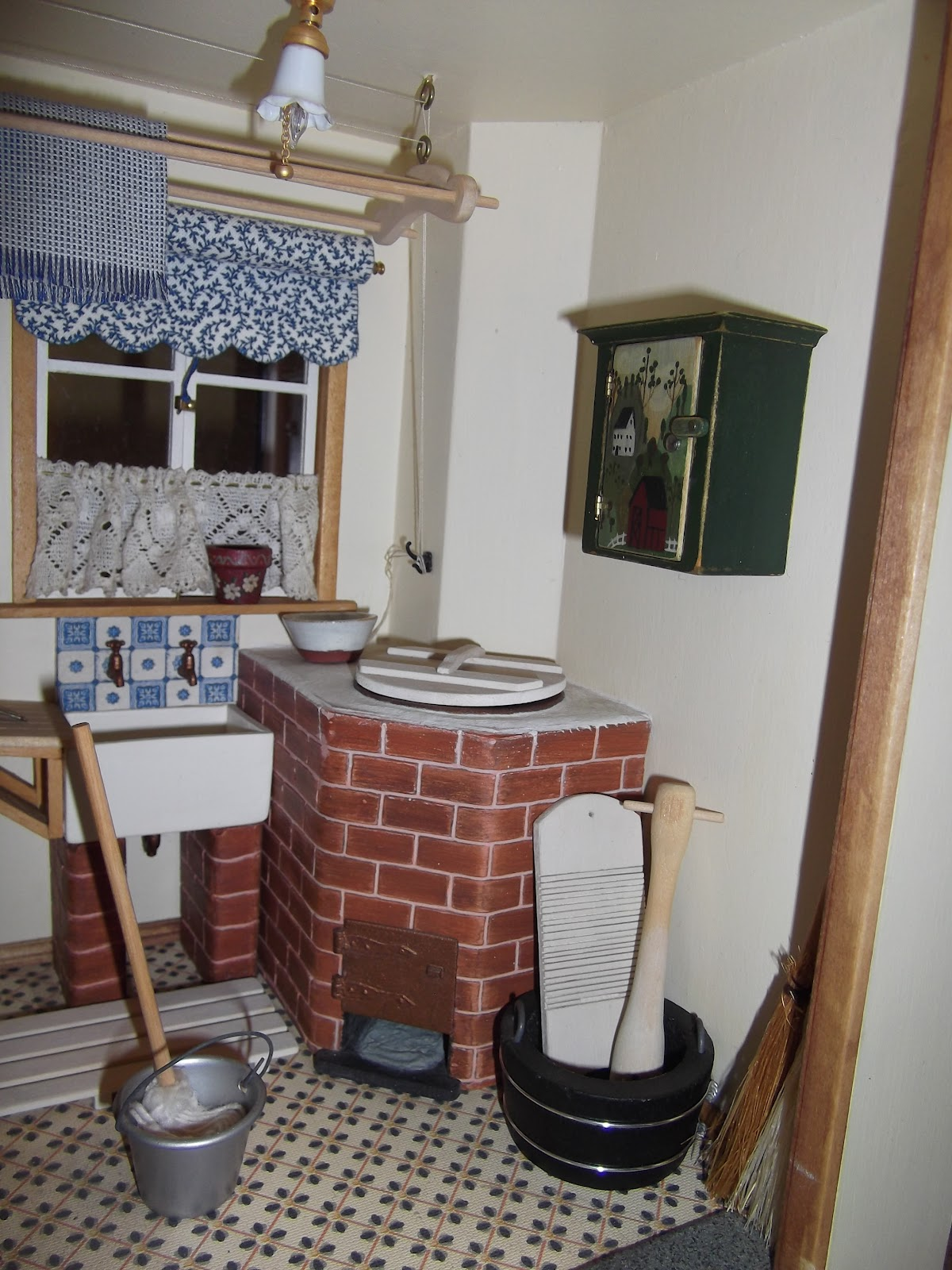 elga u0027s miniatures victorian house the scullery