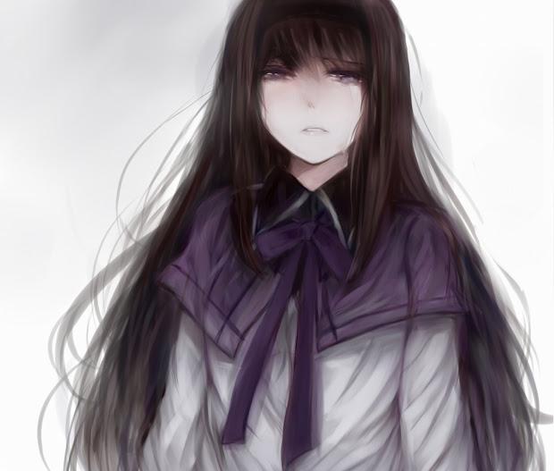 sad anime girls 2048