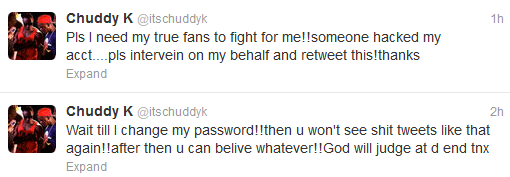 Chuddy K Claims He Never Came Out of The Closet, His Account Was Merely 'Hacked'