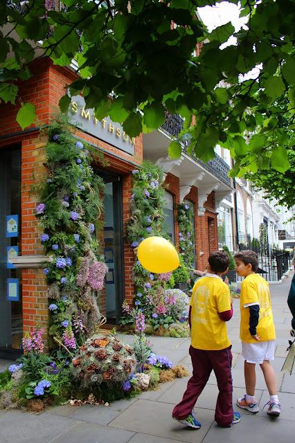 Chelsea Flower Show en Sloane Square. Jardinería