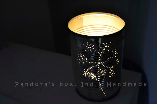 Recycled can: handmade lamp