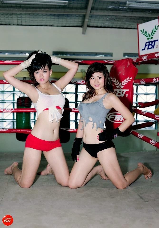 Khi phái đẹp đấu boxing 7