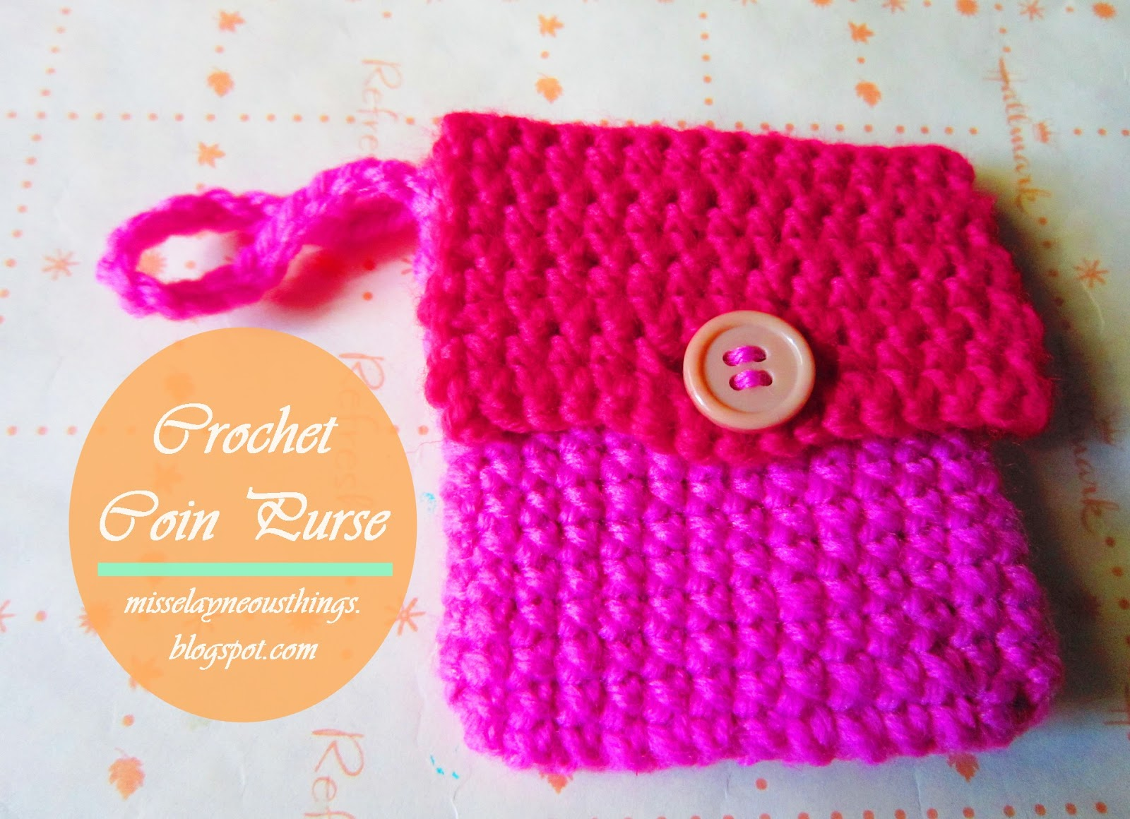 Im a proud crafter: Free Crochet Coin Purse pattern