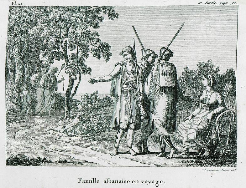 Famille albanaise en voyage(Messenia-Greece)