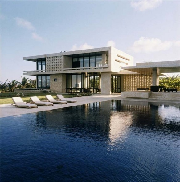 New home designs latest dominican republic modern homes for Contemporary beach house designs