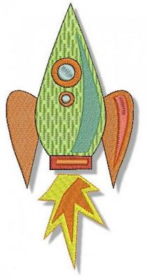 Desenho de Foguete colorido