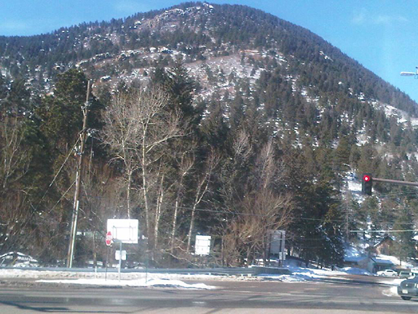 Mtn at intersection of Ute Pas & Hwy 24