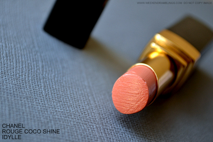 Rouge Coco Shine Lipstick Idylle 457 Review Photos Swatches FOTD LEte Papillon de Chanel Makeup Collection Summer 2013 Indian Darker Skin Beauty Blog