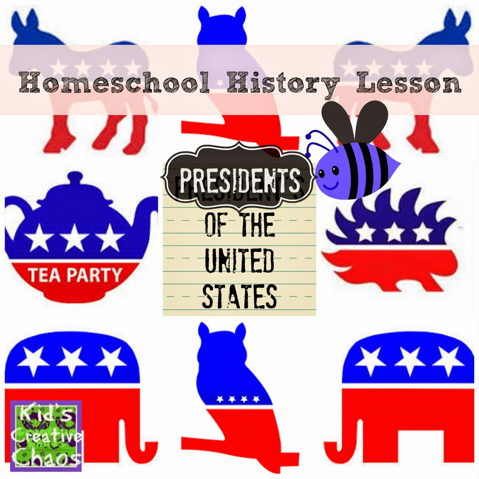 Presidents of the United States Homeschool History Lesson.