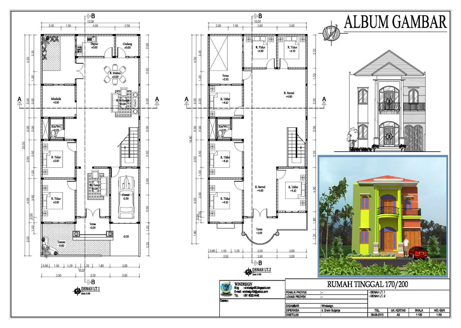 rumah kos dan rumah tinggal new design desain