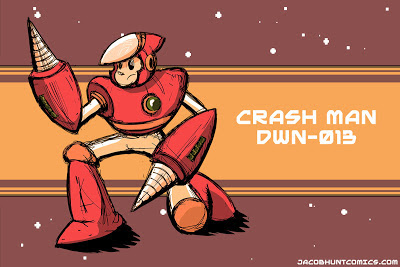 Robot Master Crash Man from Mega Man 2
