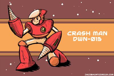 Robot Master Crash Man from Mega Man 2