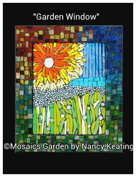 U201cGarden Windowu201d By Nancy Keating Using No Days Mosaic Adhesive. U201c