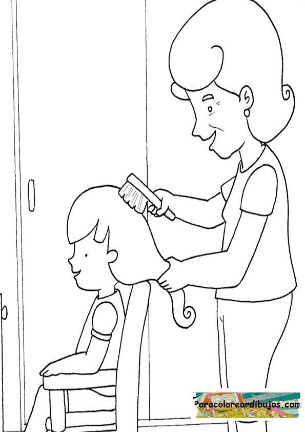Colorear Para El Pelo Sketch Coloring Page