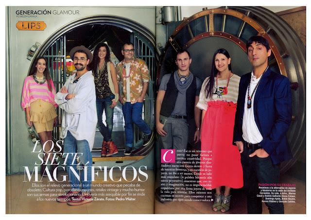 GLAMOUR SPAIN numero 114 abril 2012  Los siete magníficos. Domingo Ayala Handmade
