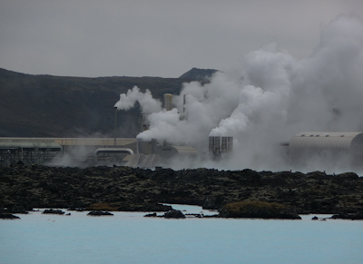 Harvesting geothermal energy.