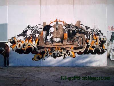 Graffiri arrow mural