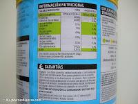 Calorías y otra información nutricional del cacao soluble light con fibra Eroski Sannia (Blog Marcas Blancas)