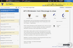 Football Manager 2014 Match report News
