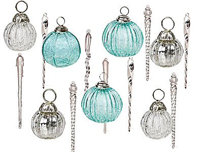 These little glass baubles available at Luna Bazaar double as place card