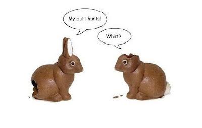 Easter bunny chocolate funny paste iepure de ciocolata