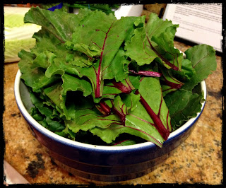 Recipe: Sauted beet greens with garlic, onions and olive oil