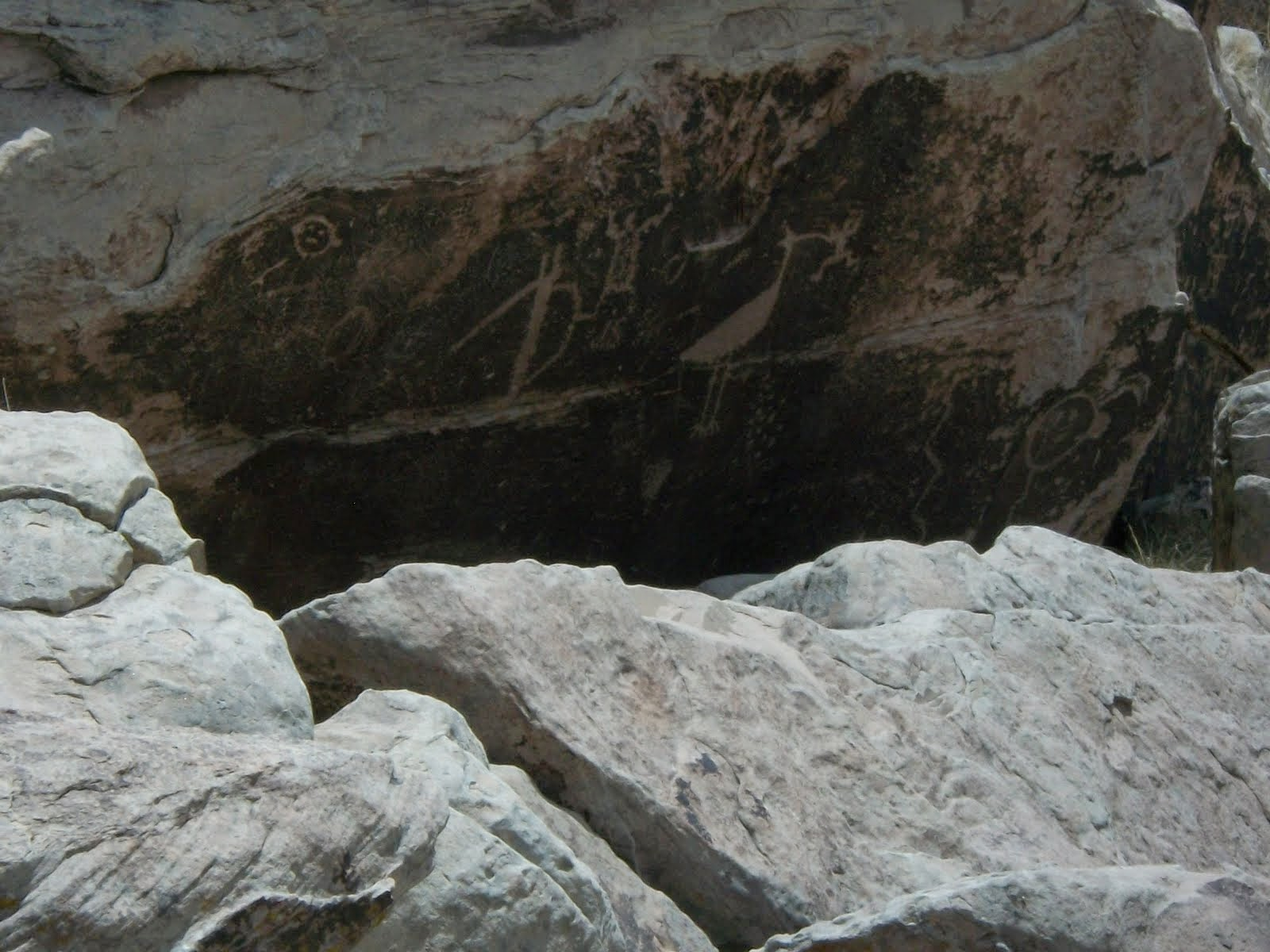 Petroglyphs at the Painted Desert