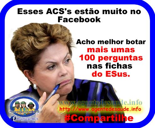dilma%2Besus ACS' ficam muito tempo no Facebook