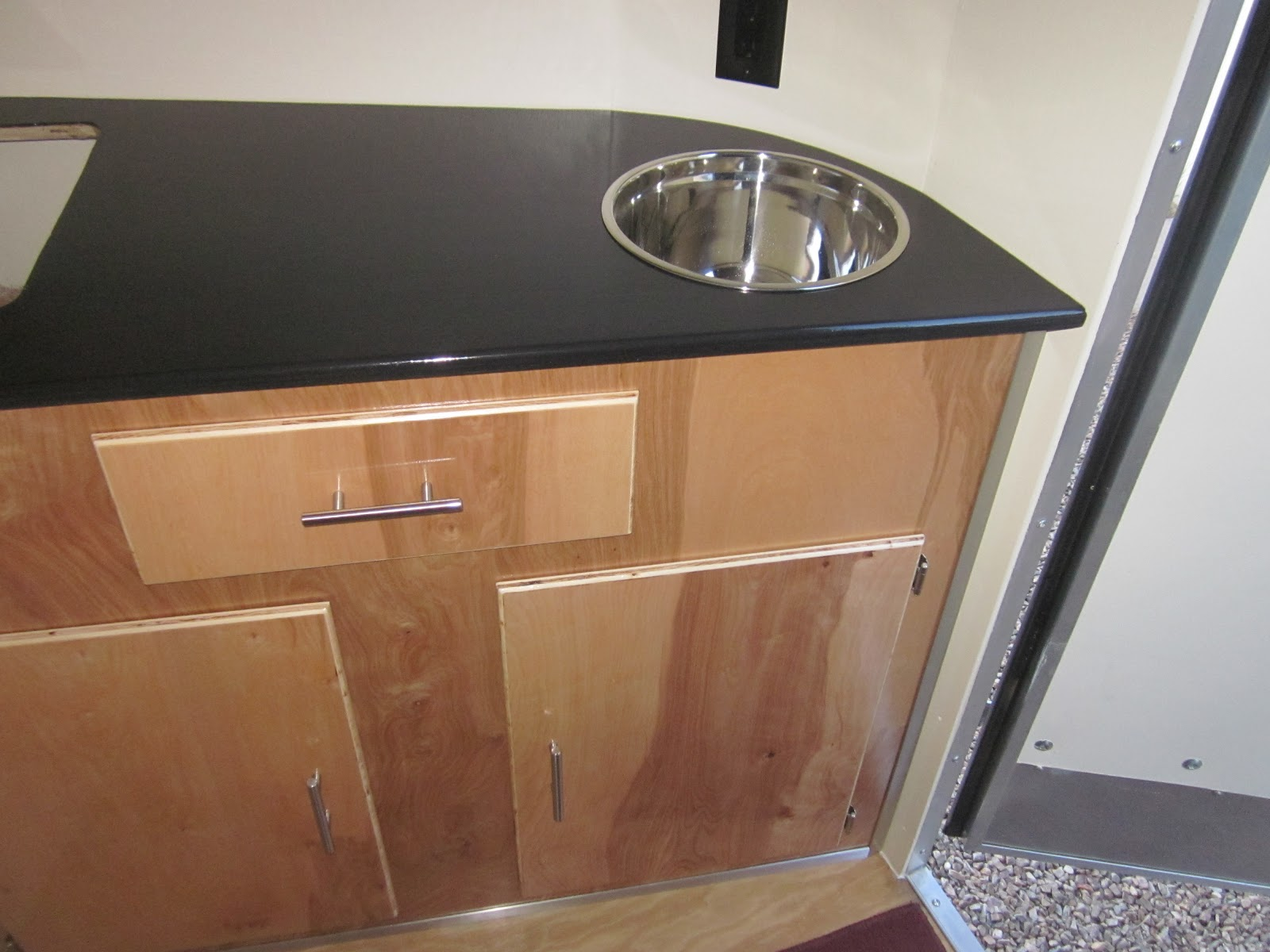 Stealth Camper Birch Plywood Cabinets