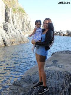 Udari Warnakulasuriya with baby