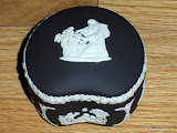 Black Wedgwood Jasperware Trinket Box 1972