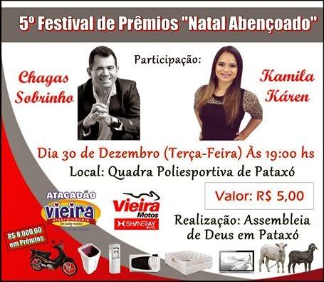 """5º Festival de Prêmios """"Natal Abençoado"""""""