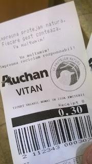 reciclare sticle plastic PET Auchan