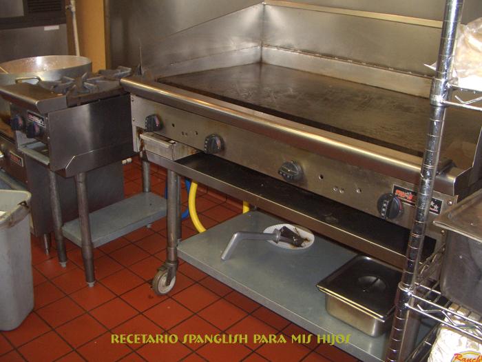 Recetario spanglish para mis hijos fajitas de pollo - Planchas de acero inoxidable para cocinar ...
